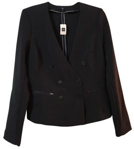 Gap Zipped Pockets Navy Blue Blazer