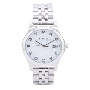 Marc by Marc Jacobs NWT Marc Jacobs Slim Silver & White SS Date Watch