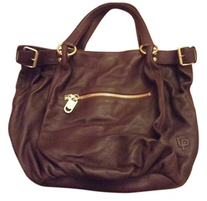 Linea Pelle Brown Tote in Bittersweet (Dark Brown)
