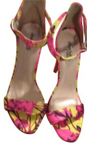 Charlotte Russe Pink & Yellow Sandals