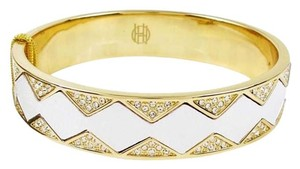 House of Harlow 1960 NWT House of Harlow 1960 Leather Pave Star Sunburst Gold Tone Bracelet