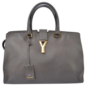 Saint Laurent Ysl Cabas Y Tote Grey Chyc Satchel