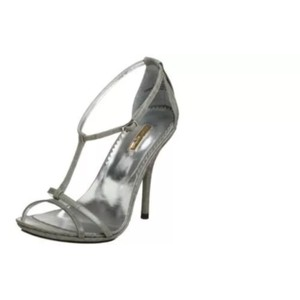Report Signature Gray leather Sandals