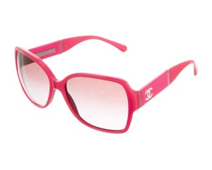 Chanel Pink Chanel Interlocking CC oversize square sunglasses