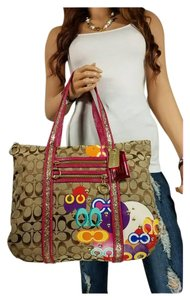 Coach Rare Pop C Applique Tote in Multi