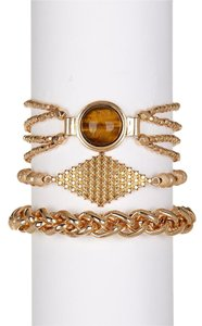 Steve Madden Steve Madden Tiger's Eye Bracelet Set - Set of 3