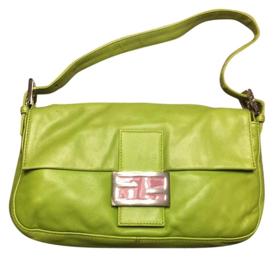 Fendi Baguette Lime Green Leather Shoulder Bag - Tradesy bc213cc4784c4