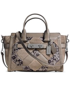 Coach Swagger Leather Patchwork Shoulder Bag