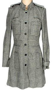 Alice + Olivia Silk Wool Tweed Plaid Coat