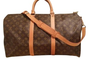 Louis Vuitton Keepall Bandouliere Monogram Travel Bag