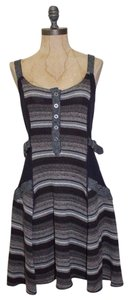 Free People short dress MULTI COLORED Striped Knit Stretch Winter Sweater on Tradesy