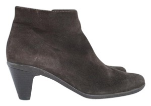 La Canadienne Waterproof Suede Heeled Ankle Boots
