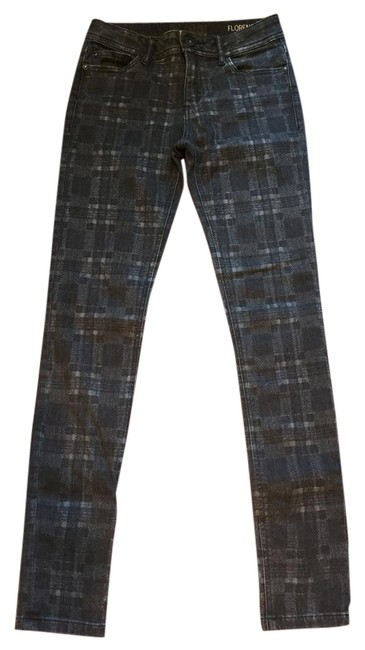 Item - Black and Grey Florence Skinny Jeans Size 25 (2, XS)