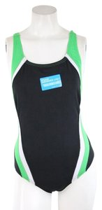 Speedo Hyper Green Black Endurance Lite One Piece Swimsuit
