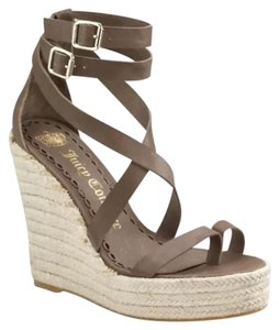 Juicy Couture Taupe Wedges