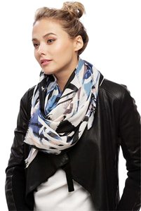 Other Navy Painting Pattern Scarf