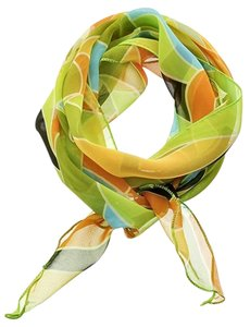 Lime Green Skinny Scarf