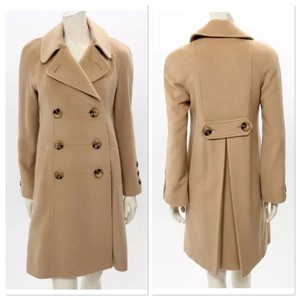 Searle Camel Jacket Business Pea Coat