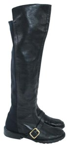 Marc by Marc Jacobs Black Leather Over The Knee Boots