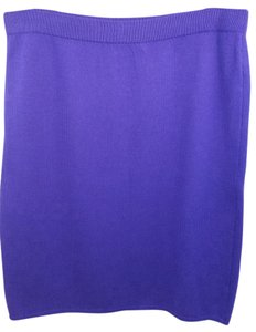 St. John Purple Knit Skirt
