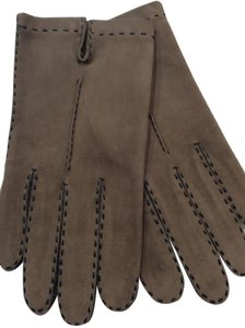 Beautiful Handcrafted Brown Suede Leather Gloves