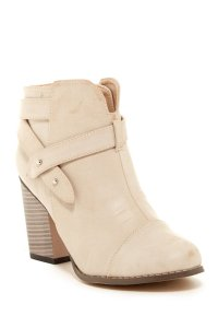 Chase & Chloe Nude Boots