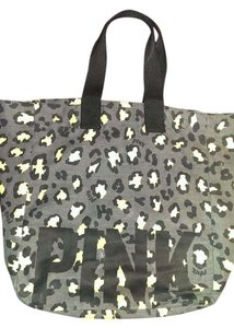 Victoria's Secret Pink Leopard Beach Tote Yellow, black and charcoal grey Beach Bag