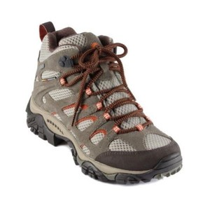 Merrell Taupe Red Boots