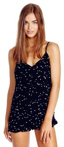 Wildfox Romper Intimates Heart Top black