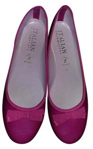 Italian Leather Pink Flats