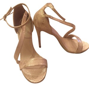 Express Strappy Heels Gold Sandals