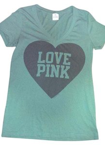 Victoria's Secret Pink Victoria Size Med T Shirt Deep green