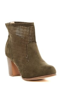 Chase & Chloe Olive Boots