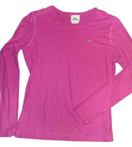 Lacoste Long Sleeve T Shirt Pink