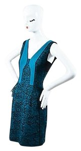 J. Mendel Lace V Neck Sleeveless Dress