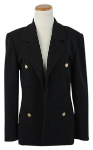 Chanel Knit Open Black Blazer