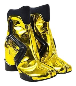 Maison Margiela Maison Metallic Yellow Tabi Split Toe Gold Boots