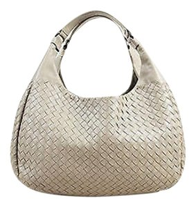 Bottega Veneta Leather Woven Campana Shoulder Bag