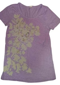 J.Crew Size Med T Shirt Lavender and cream
