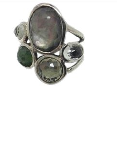Ippolita size 7.25, green Quartz, sterling silver ring - Wonderland collection