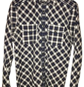 Express Button Down Shirt Black, gray, blue, white