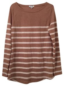 Old Navy T Shirt Beige and Ivory Stripes