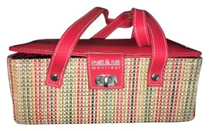 Matt & Nat Satchel in Red and Natural Multi Color