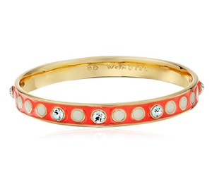 Kate Spade Stylist Bangle Bracelet ORIG. $58 Coral Dots and Crystals VALENTINE'S