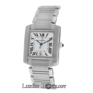 Cartier Authentic Ladies Cartier Tank Francaise 2302 Steel Automatic Date