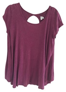 Free People Trapeze T Shirt Maroon