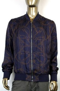 Gucci Men's Silk Horse Print Silk Twill Bomber Jacket It 60/us50 336789 4261