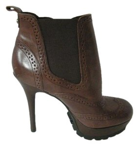 Sam Edelman Wingtip Leather Slm Heels Brown Platforms