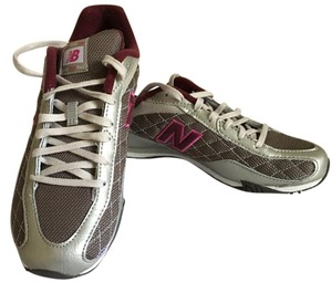 New Balance Tennis Silver/Brown/Pink Athletic