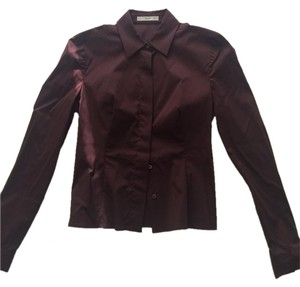 Prada Button Down Shirt Burgundy